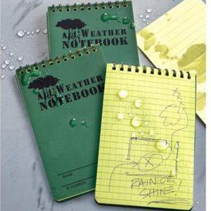 all weather boekje boek onder water nat schrijven rite in the rain