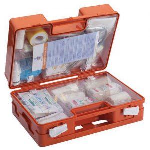 BHV-koffer norm 2016 2016 EHBO-koffer type A3 voor 10 personen eerste hulp verbandtrommel verbanddoos koffer verbandkoffer ophang op hangen systeem norm
