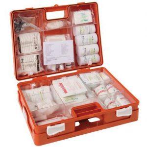 verbandtrommel A vanaf 10 pers. EHBO-koffer type A3 voor 10 personen eerste hulp verbandtrommel verbanddoos koffer verbandkoffer ophang op hangen systeem norm