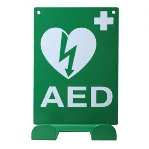 Universele ophangbeugel AED operationeel handhaving politie ehbo zoll phillips automatisch half pads kinderen volwassenen auto onderweg surveillance lange standby