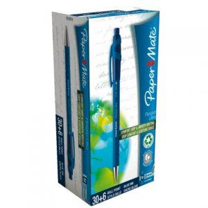 Balpen blauw doos 36 stuks pennen doos goedkoop goedkope 36 stuks voorraad balpen klikker drukknop grip comfort