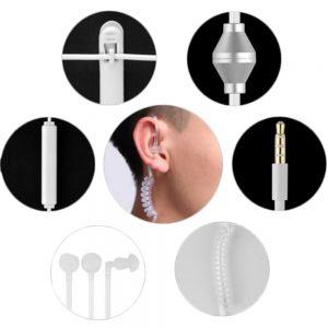 Anti-straling oordopjes oortje koptelefoon portofoon telefoon porto walkie talkie anti straling beveiliging oor geluid 3,5 mm jack
