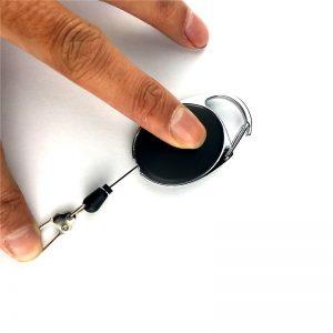 Terugtrekkoord trekkoord terugtrekkoord terugtrek metalen yoyo met nylon koord en sleutelring / Skipashouder sleutelring automatisch opwindbaar