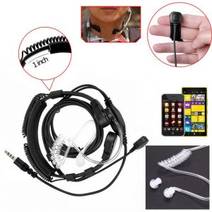 keelmicrofoon tactisch omgevingsgeluid reductie stemband stembanden beveiliging evenementen evenement kermis festival jack 3.5 mm