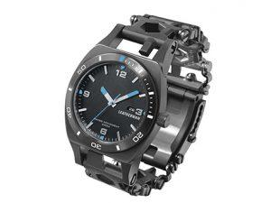 leatherman tread tempo stainless black le 8050 bk horloge watch multitool