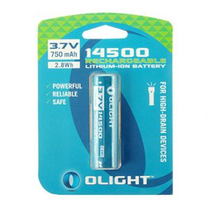 Olight 14500 battery 750mAh op blister