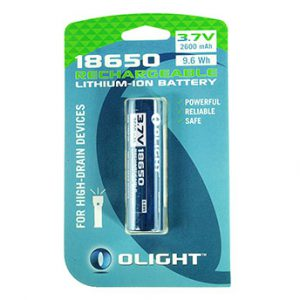 Olight 18650 2600mAh accu voor M-serie op blister