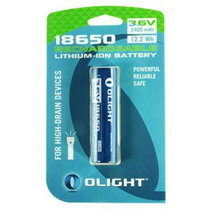 Olight 18650 3400mAh accu voor M-serie in box