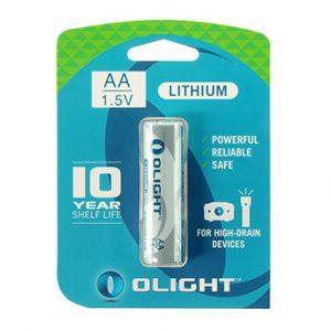 Olight AA Lithium battery 1.5 V 2900mAh