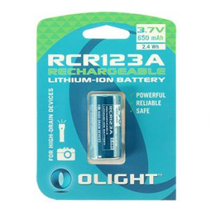 Olight RCR123A battery 3.7V 650mAh rechargeable