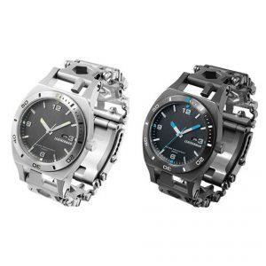 leatherman tread tempo black stainless black le 8050 bk horloge watch multitool