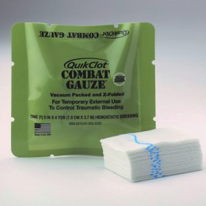 stop het bloeden set combat gauze quickclot cilox trauma kit terreur acute hulp first responce