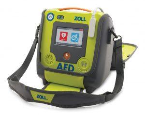 aed operationeel handhaving politie ehbo zoll phillips automatisch half pads kinderen volwassenen auto onderweg surveillance lange standby