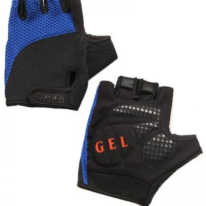 Vingerloze Fietshandschoen Blauw lederen handschoenen leer kwaliteit politie uniform handhaving motor fiets scooter windstopper sterk kwaliteit