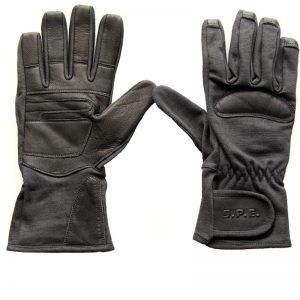 Schiethandschoen lederen handschoenen leer kwaliteit politie uniform handhaving motor fiets scooter windstopper sterk kwaliteit