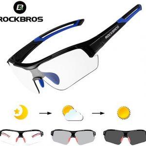 Meekleurende fietsbril fotochromatische