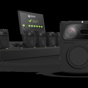 Zepcam streaming live recording opnemen veilig hufterproof T2 bodycam tegen agressie oplaadbaar laadstation