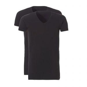 Shirt extra lang zwart